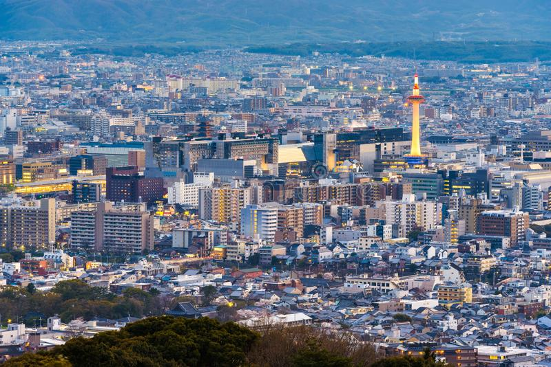 Kyoto, Japan City Skyline from Above stock photos