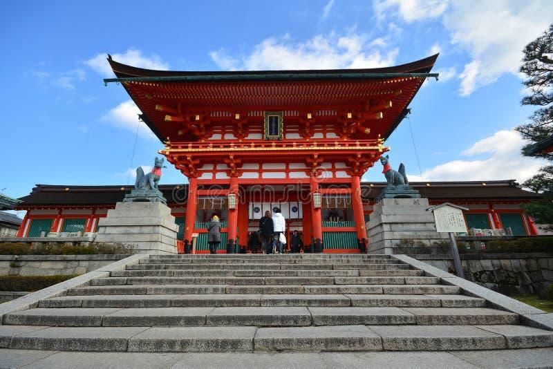 KYOTO, JAPAN : December 7, 2016 - Fushimi Inari Taisha Shrine. In Kyoto, Japan royalty free stock photography