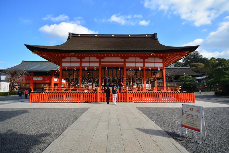 KYOTO, JAPAN : December 7, 2016 - Fushimi Inari Taisha Shrine. In Kyoto, Japan stock images