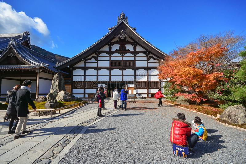 Kyoto Japan : December 6,2016 - Tenryuji Sogenchi Garden. A UNESCO World Heritage Site in Kyoto royalty free stock photography