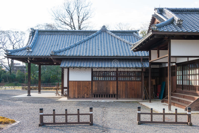 KYOTO, JAPAN - Jan 11 2015: Kan-in-no-miya residence site of Kyoto Gyoen Garden. a famous historical site in the Ancient city. Of Kyoto, Japan royalty free stock photography