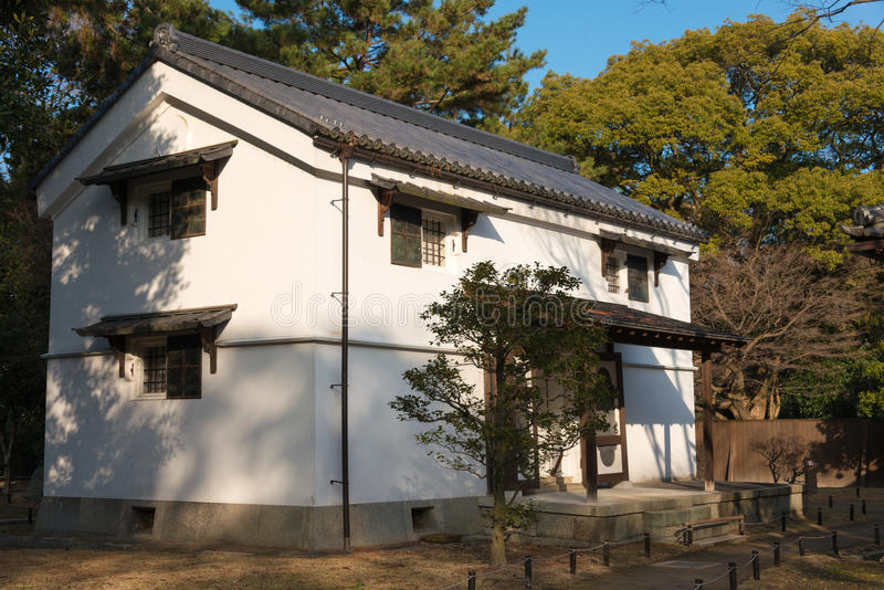 KYOTO, JAPAN - Jan 11 2015: Kan-in-no-miya residence site of Kyoto Gyoen Garden. a famous historical site in the Ancient city. Of Kyoto, Japan royalty free stock photo