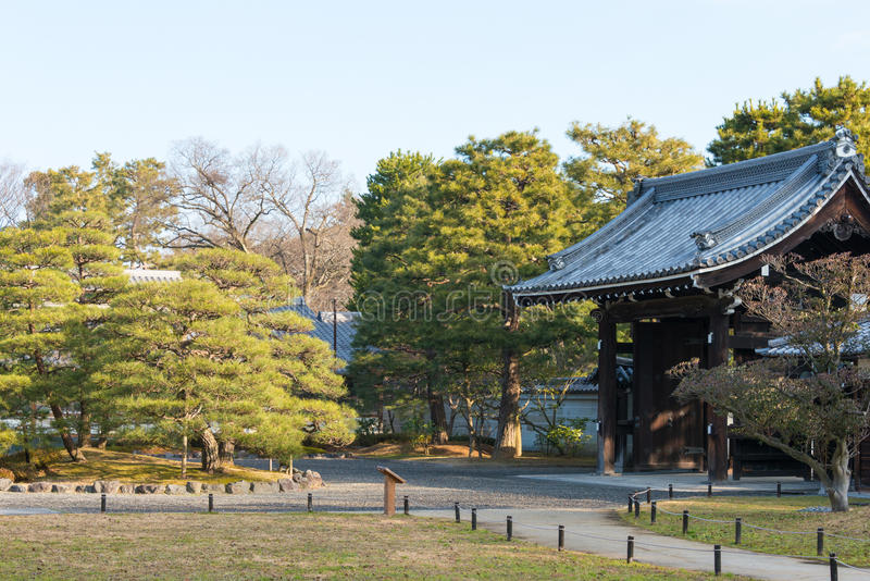 KYOTO, JAPAN - Jan 11 2015: Kan-in-no-miya residence site of Kyoto Gyoen Garden. a famous historical site in the Ancient city. Of Kyoto, Japan stock photography