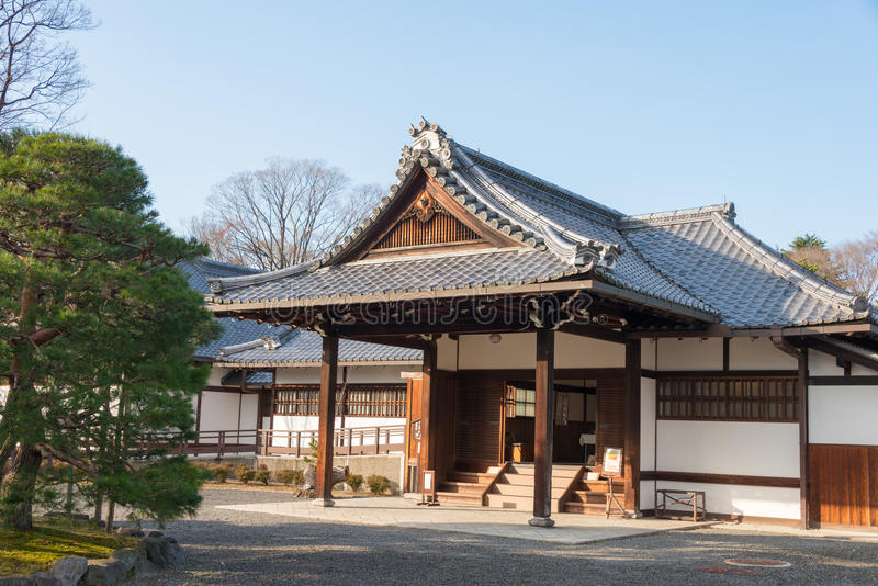 KYOTO, JAPAN - Jan 11 2015: Kan-in-no-miya residence site of Kyoto Gyoen Garden. a famous historical site in the Ancient city. Of Kyoto, Japan stock image