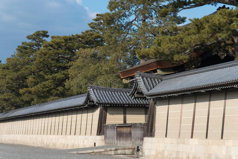 KYOTO, JAPAN - Jan 11 2015: Kyoto Gyoen Garden. a famous historical site in the Ancient city of Kyoto, Japan. stock image