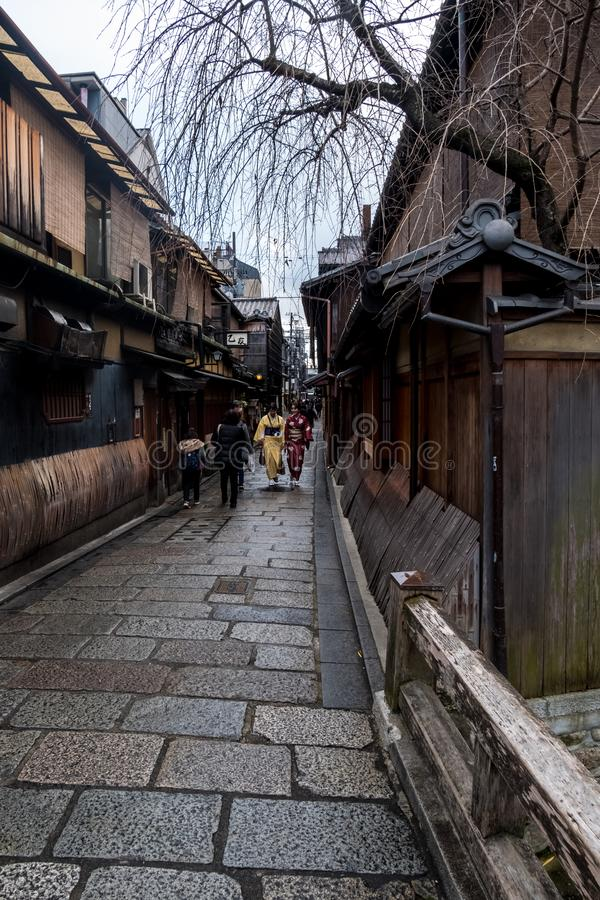 Gion old street royalty free stock photos