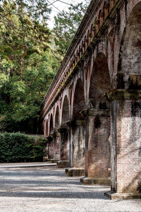 Western Style Aqueduct at Kyoto royalty free stock photo
