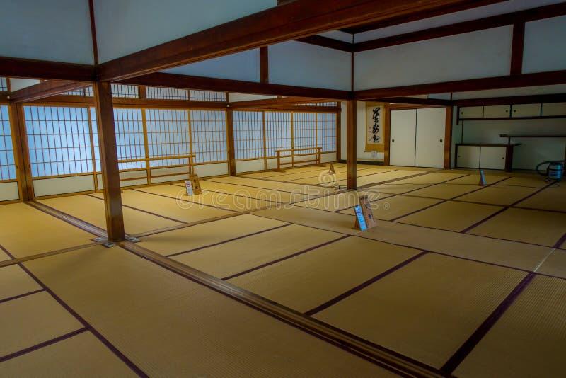 KYOTO, JAPAN - JULY 05, 2017: A room covered with tatami mat at Tenryu-ji on in Kyoto. Japan royalty free stock image
