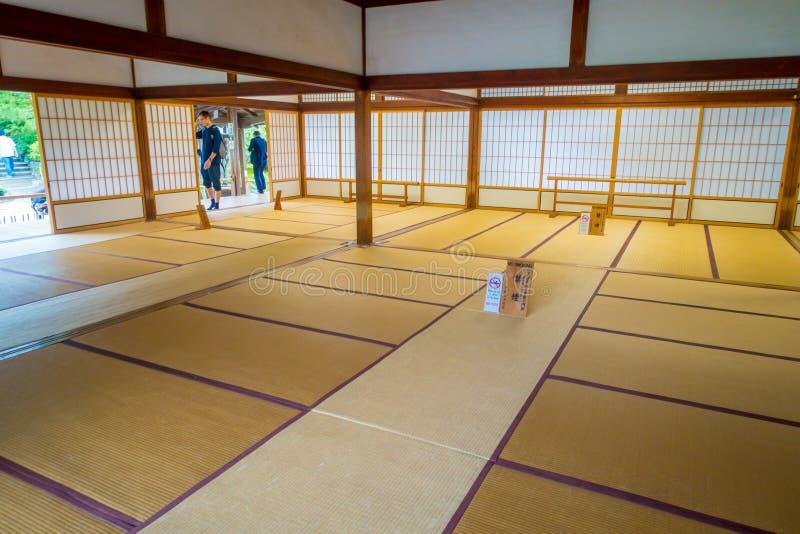KYOTO, JAPAN - JULY 05, 2017: A room covered with tatami mat at Tenryu-ji on in Kyoto. Japan stock image