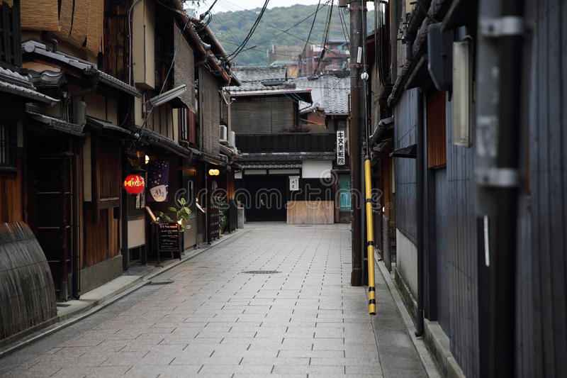 KYOTO, JAPAN - June 4, 2016:Japanese old downtown Gion in Kyoto. Japan stock photography