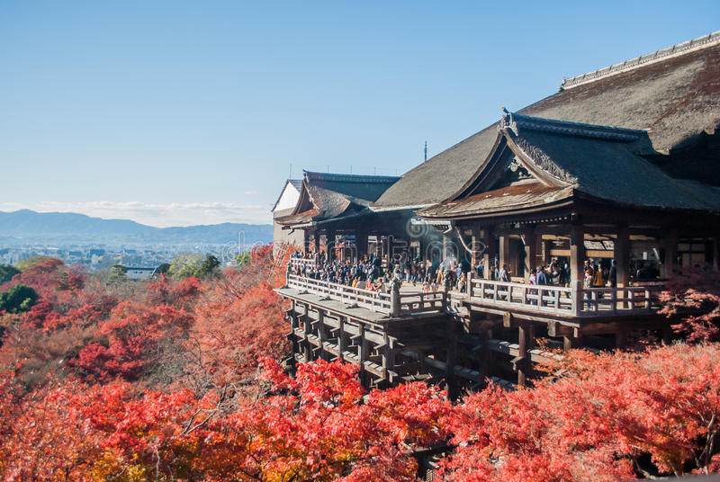 Kyoto Japan - kiyomizu-Deratempel stock afbeeldingen
