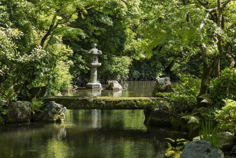 Kyoto Japan - Maj 19, 2017: Sikt av Hojo Garden på Chion-i arkivbilder