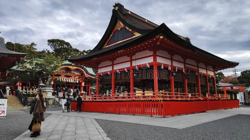 Tourist visit Fushimi Inari Shrine in Kyoto Japan royalty free stock photos