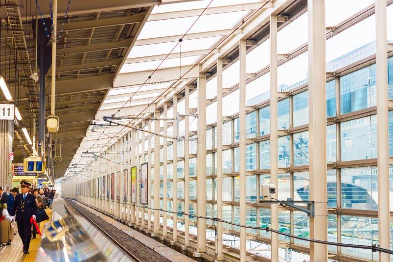KYOTO, JAPAN - NOVEMBER 7, 2017: Mening van het binnenland van het station Exemplaarruimte voor tekst royalty-vrije stock afbeelding