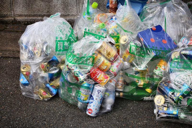 Sorted household waste royalty free stock images