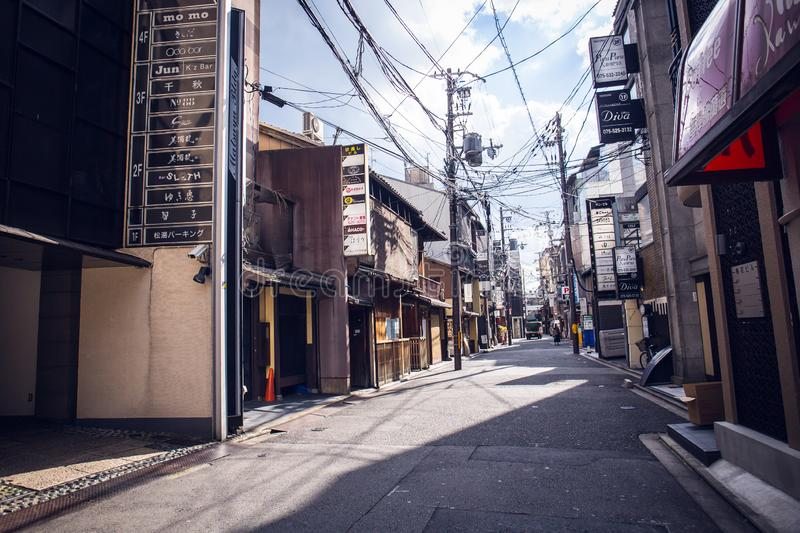 Gion street stock images