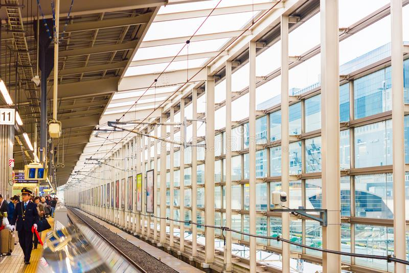 KYOTO, JAPAN - NOVEMBER 7, 2017: View of the interior of the railway station. Copy space for text. royalty free stock image