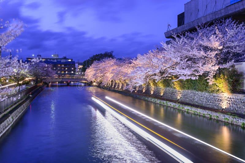 Kyoto Japan Okazaki kanal arkivbilder