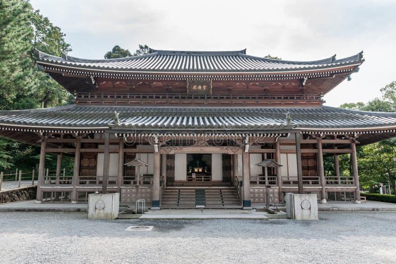 KYOTO, JAPAN - OKTOBER 09, 2015: Chion-in Heiligdom, Tempel in Higashiyama -higashiyama-ku, Kyoto, Japan Hoofdkwartier van het jo stock afbeeldingen