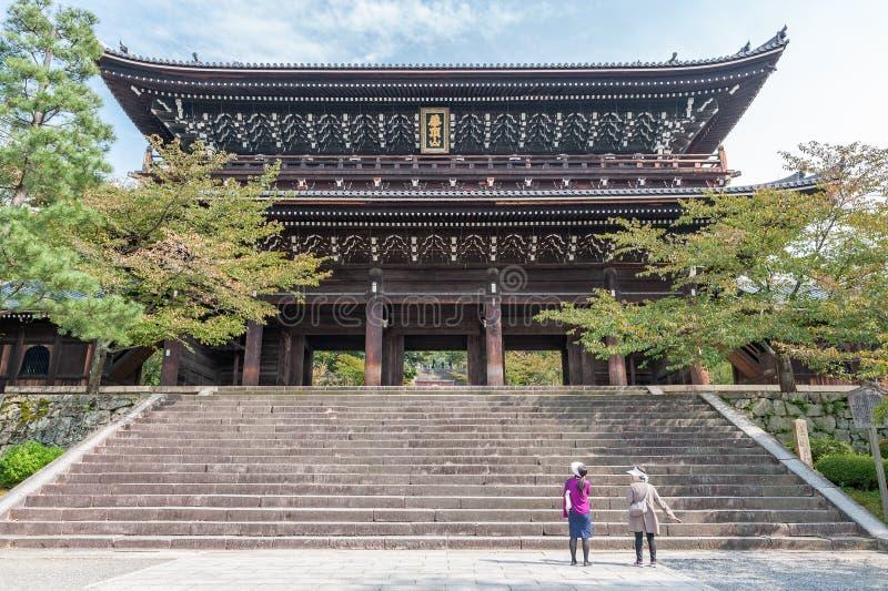 KYOTO, JAPAN - OKTOBER 09, 2015: Chion-in Heiligdom, Tempel in Higashiyama -higashiyama-ku, Kyoto, Japan Hoofdkwartier van het jo stock afbeelding
