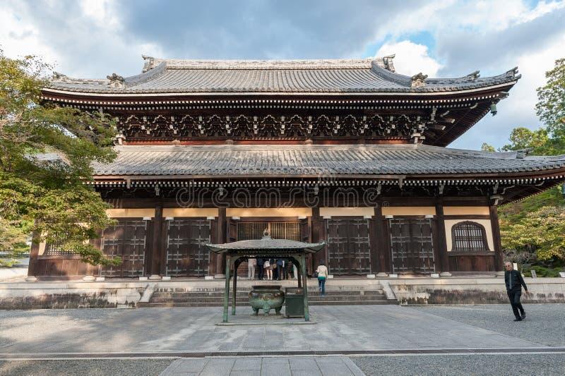 KYOTO JAPAN - OKTOBER 08, 2015: Nanzen-ji Zuiryusan Nanzen-ji, förr Zenrin-ji buddistisk japan kyoto tempelzen kejsare royaltyfri fotografi