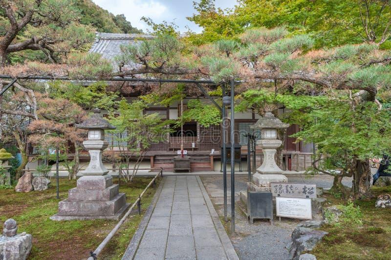 KYOTO JAPAN - OKTOBER 08, 2015: Nanzen-ji Zuiryusan Nanzen-ji, förr Zenrin-ji buddistisk japan kyoto tempelzen kejsare royaltyfria bilder