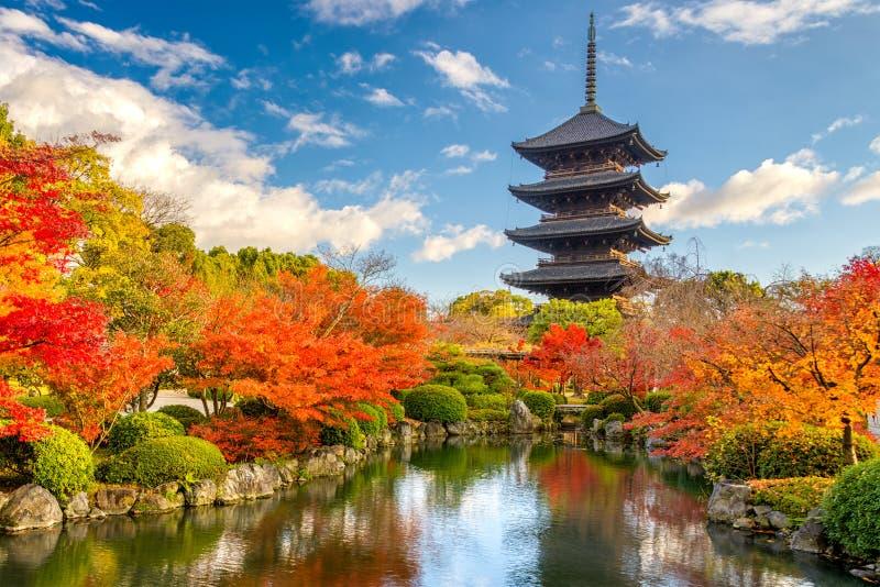 Kyoto Japan pagod royaltyfria bilder