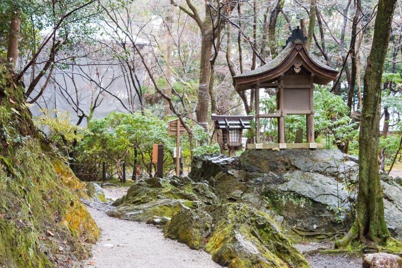 KYOTO JAPONIA, Jan 12 2015, -: Kamigamo-jinja świątynia sławny shri zdjęcie royalty free