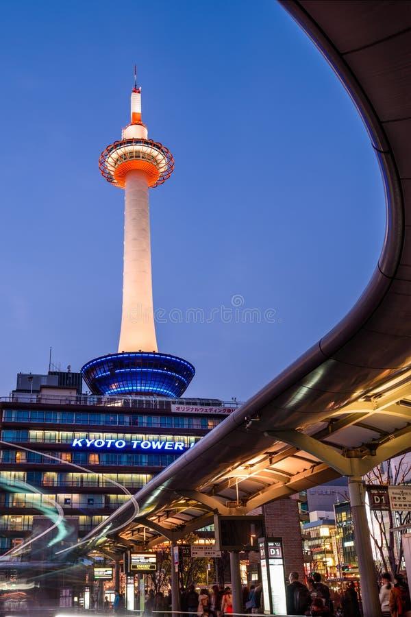 Kyoto-Kontrollturm Japan lizenzfreie stockfotografie