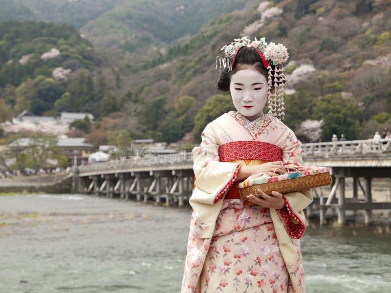 kyoto maiko zdjęcie royalty free