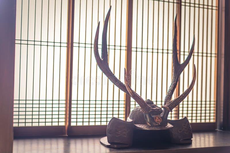 Kyoto - Maj 29, 2019: Samurajroder inom ett samurajhus i Kyoto, Japan fotografering för bildbyråer