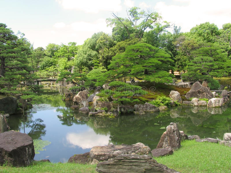 Kyoto Nijo castle gardens stock image