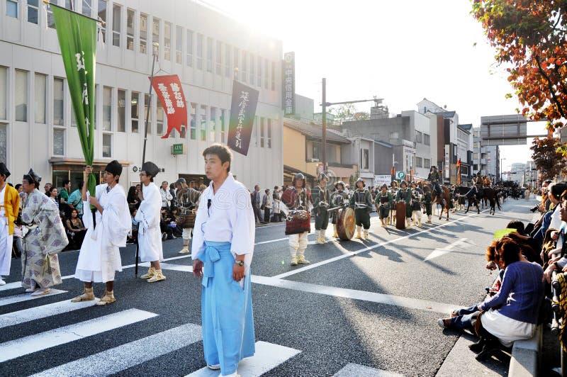 KYOTO OCT - 22: Jidai Matsuri Obraz Stock Editorial