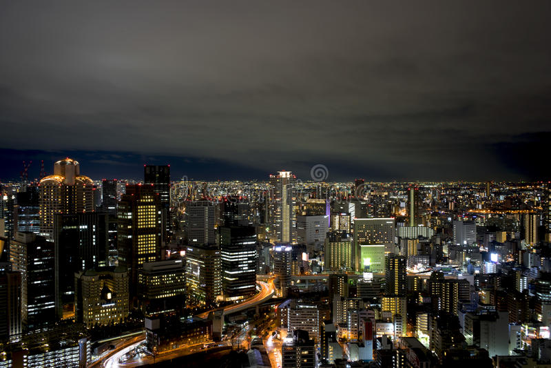 Kyoto på nattetid arkivfoton
