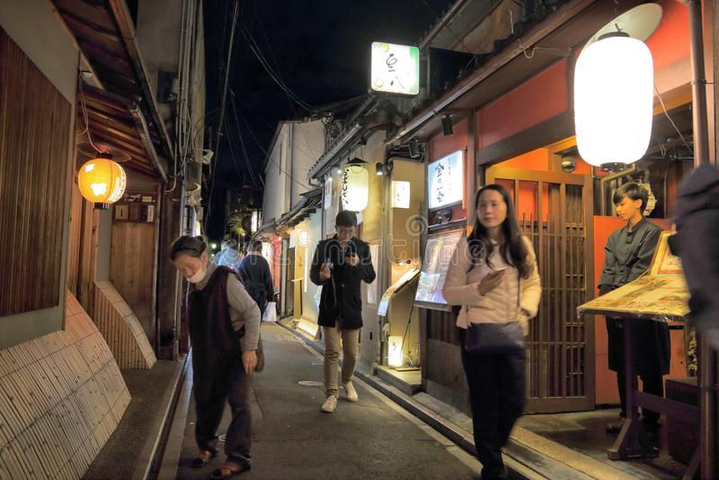Kyoto - Pontocho royalty-vrije stock afbeeldingen