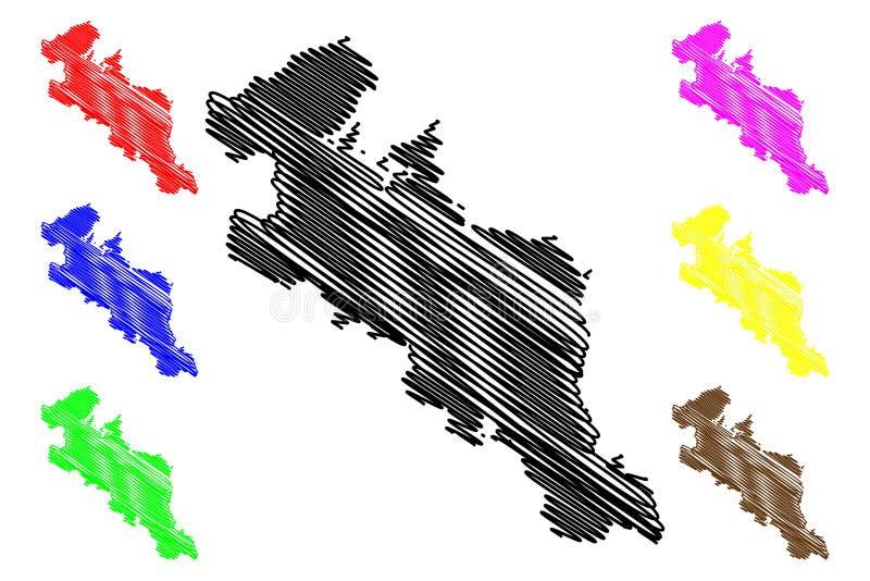 Kyoto-Präfekturkartenvektor lizenzfreie abbildung