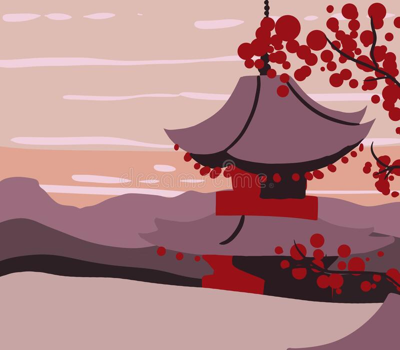 Kyoto Red. Simple background with a warm colors stock photo
