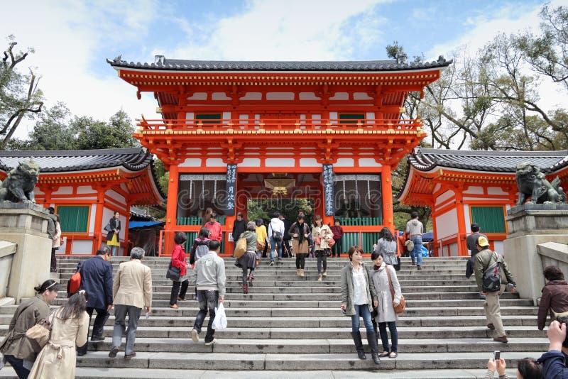 Kyoto - santuário de Yasaka foto de stock