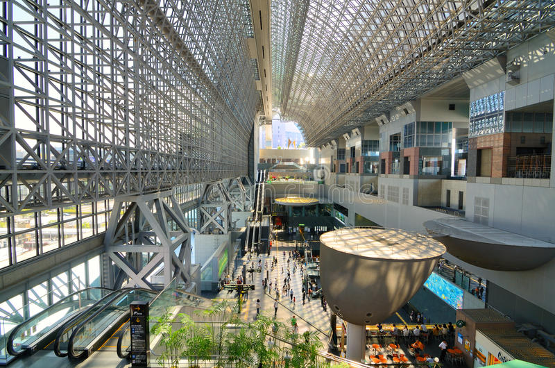 Kyoto Station stock photo