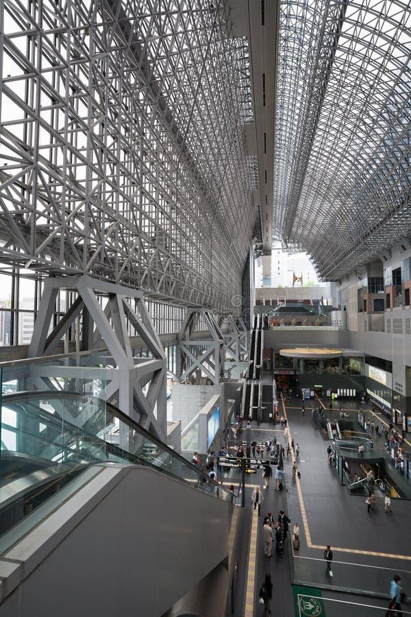 Kyoto station i Japan arkivfoto
