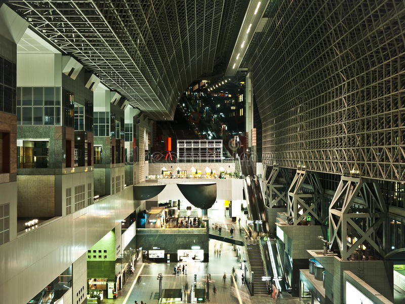 Kyoto Station, modern architecture royalty free stock photos