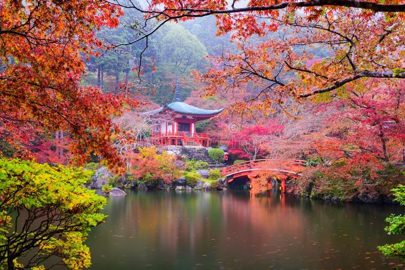 Kyoto-Tempel im Herbst stockfotografie