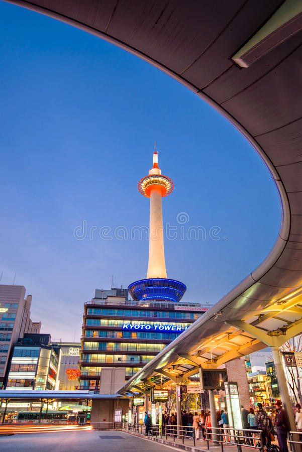 Kyoto Tower, Japan royalty free stock image