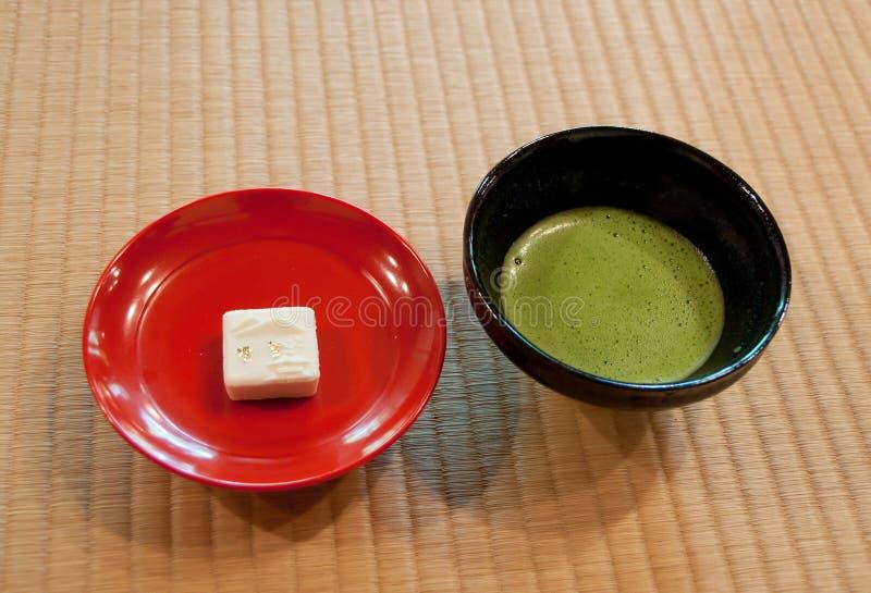Kyoto traditionellt grönt te royaltyfria bilder