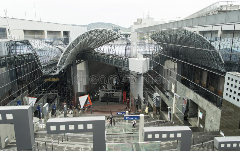 Kyoto Train Station Japan stock photography