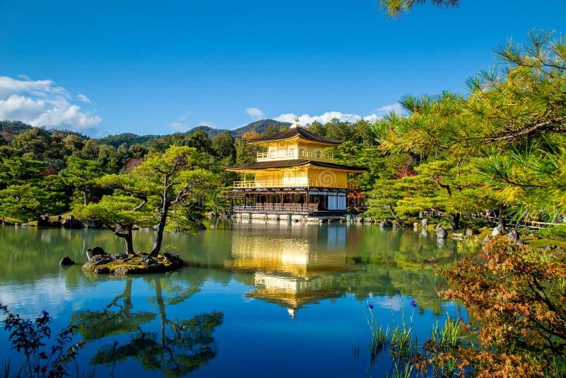 Kyoto Travel to Kinkakuji temple or Golden Pavilion Kinkaku-ji stock image
