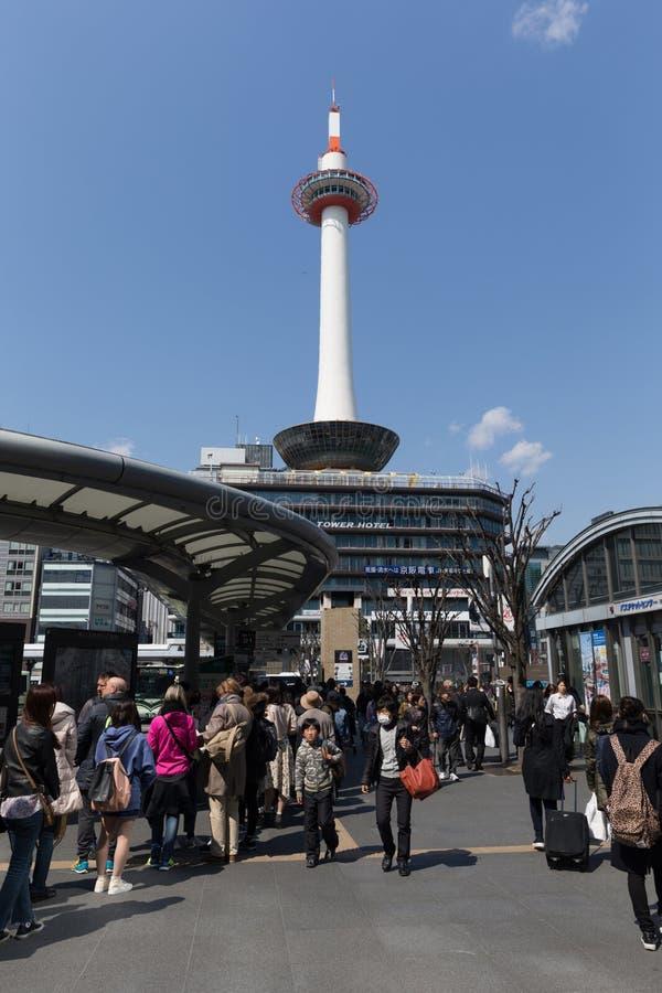 Kyoto-Turm in Japan stockfotos