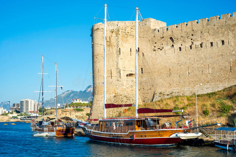 Kyrenia Castle, North East Tower. Cyprus. Kyrenia Castle, North East Tower (Lusignan). Cyprus stock image
