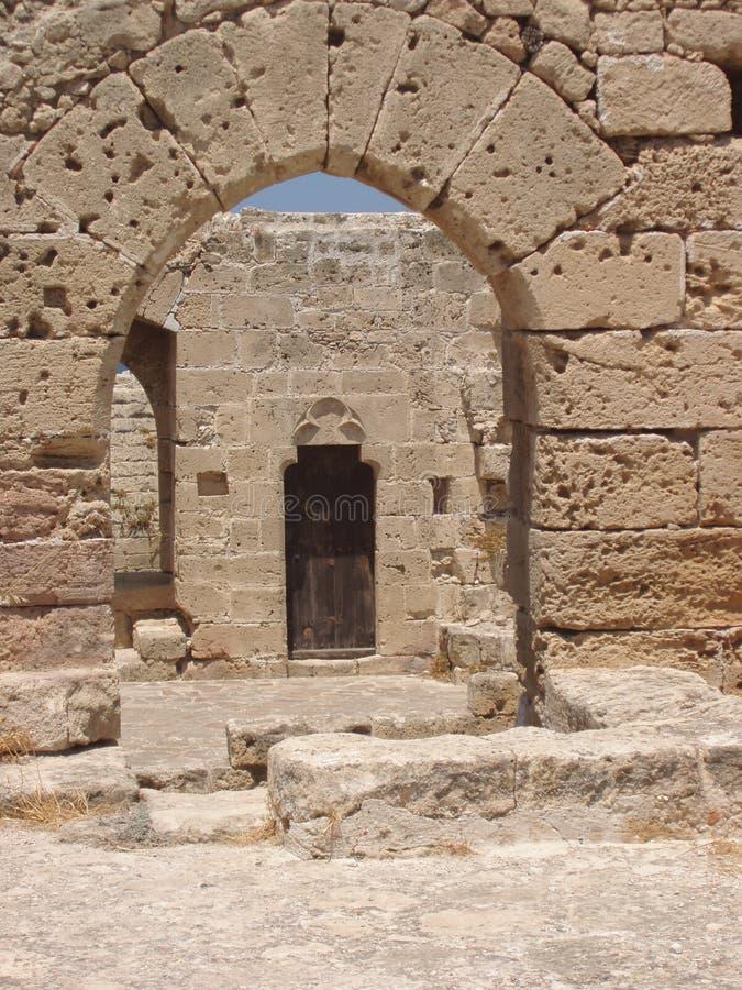 Kyrenia, Chypre - à l'intérieur du château de Kyrenia image libre de droits