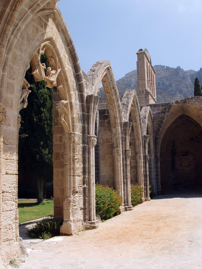 Kyrenia, Cyprus - Bellapais Abbey Arches stock photography